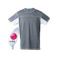 LeVon~男吸排抗UV短袖圓領衫(深灰)/台灣製造MIT/防曬/抗紫外線/吸濕排汗/涼感降溫/防臭抗菌#6201