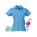 LeVon~女吸排抗UV短袖POLO衫(藍綠)/台灣製造MIT/防曬/抗紫外線/吸濕排汗#7317