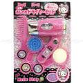 HELLO KITTY 電動梳妝美髮玩具組 吹風機 梳子 鏡子 玩具 正版日本進口 限定販售 * JustGirl *