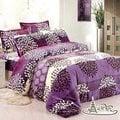 【情定巴黎】紫葉繽紛 保暖聖品玫瑰絨毯包邊超值款(150cm x 200cm)