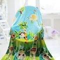 【情定巴黎】彩色動物園 保暖聖品玫瑰絨毯包邊超值款(150cm x 200cm)