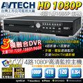 TVI AVTECH 1080P 4路1聲 DVR 支援整合類比/高清1080P 720P 攝影機 手機監看 監視器材 回放/備