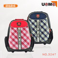 【送UNME筆袋3617】【UnMe】台灣製 兒童後背書包 蘇格蘭紋 可放筆電 附小黑貂娃娃 3247 兩色