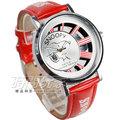 Snoopy 史努比 女錶 兒童錶 卡通錶 史奴比 鏤空浮雕錶盤 防水手錶 銀x紅 D史努比B紅