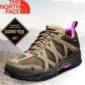 【The North Face 女款 GORE-TEX 低筒登山健行鞋 棕褐/亮桃粉】TETSU GTX Gore-Tex 低筒登山健行鞋/多功能越野跑鞋/慢跑鞋/A2Y1
