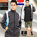 【荷蘭-戶外趣】荷蘭品牌-男薄款-類Goretex高防水2.5L全天候防護輕量外套(BMJ002深灰拼淺藍)