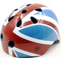 【紫貝殼】『CK08-1』London Taxi KickBike 幼兒安全帽-英國國旗【採用堅硬的外殼保護寶貝頭部】