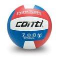 CONTI 超軟橡膠排球(5號球)紅/白/藍 V700-5-RWB [陽光樂活=]