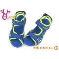 MERRELL 男童涼鞋 防水 輕量 可調整式 PANTHER 運動涼鞋I6469#藍黃◆OSOME奧森童鞋/小朋友