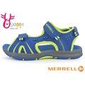 MERRELL 大童(女段) 防水涼鞋 輕量 可調整式 PANTHER 運動涼鞋I6473#藍黃◆OSOME奧森童鞋/小朋友