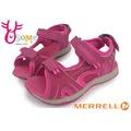 MERRELL女童涼鞋 防水 輕量 可調整式 PANTHER 運動涼鞋I6477#桃紅◆OSOME奧森童鞋/小朋友