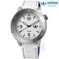 adidas 愛迪達 / ADH3010 / Originals Manchester 勁酷復古簡約皮革腕錶 白色 46mm