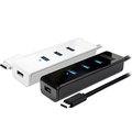 [哈GAME族]●可刷卡●伽利略 CU3H04I USB3.0 Type-C 4埠 HUB 線長45公分 相容USB 3.1/2.0/1.1