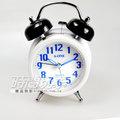 A-ONE 簡約鈴聲鬧鐘 滑動式秒針 夜光 雙鈴鬧鐘 TG-0126藍