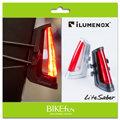 [出清優惠]iLUMENOX LiteSaber 鏤空光劍尾燈-白,高亮度LED,水滴管可安裝!帥氣設計相當適合公路車!拜訪單車