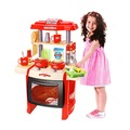【Amuzinc酷比樂】家家酒系列玩具 聲光廚具台(附購物籃) 紅色 WD-B16
