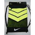 新莊新太陽 NIKE VAPOR BA5250-010 健身袋 背包 手套袋 鞋袋 束口袋 黑X螢光綠 特520