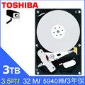 【HD數位3C】TOSHIBA 東芝【監控碟】3TB 3.5吋 硬碟(DT01ABA300V)