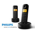 【ZERO 3C】Philips 飛利浦 無線電話D1302B( 雙話機) 1.6 吋顯示器/琥珀色背光 @含稅發票