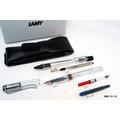 【圓融文具小妹】LAMY 狩獵系列 禮盒組 鋼筆+自動原子筆+ 2支入皮筆套 透明