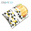 《ENJOY101》矽膠布環保食物袋-袋型-幾何菱格