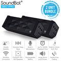 美國聲霸SoundBot SB571PRO 獨家專利藍牙1對4隨身喇叭 5W + 5W (1組2入) - 藍芽 鐵三角 Beats Bose Doss Panasonic Sony JS JBL TD..