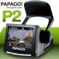 @Woori 3C@ PAPAGO P2 行車紀錄器 測速提醒 自動備份 1080P GPS+重力感應 120度廣角鏡頭