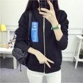 外套 學院風新款外套女短款學生韓版拉鏈開衫字母棒球服多口袋閨蜜裝潮N518