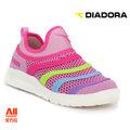 【Diadora 迪亞多那】【全方位運動戶外館】編織彩虹炫燈鞋 童鞋 -粉紅色(D5332)