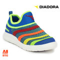 【Diadora 迪亞多那】【全方位運動戶外館】編織彩虹炫燈鞋 童鞋 -水藍色(D5336)