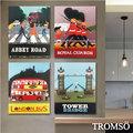 TROMSO 時尚無框畫 W218插畫英倫-28x35cm/美式巴士 倫敦 皇家衛兵 大樹小屋【H0309297】