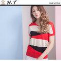 【H.T】全新/現貨 玄太服飾 玄太-簡約幾何織紋透氣針織上衣(紅)