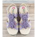 【MYVINA 維娜】dispon 地之柏 健美涼鞋 女款 女鞋 舒適 休閒鞋 超軟 Q彈性 真皮高質感 厚底 涼鞋 紫色 2105