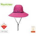 丹大戶外【Mountneer】山林休閒 中性款 透氣抗UV大盤帽 圓頂帽/防曬帽/遮陽帽/休閒帽/牛仔帽 11H10-45 紫紅色