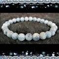 ◆穩定心性,開啟心輪◆~天然純品海水藍寶圓珠手鍊