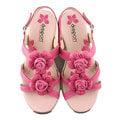【MYVINA 維娜】dispon 地之柏 健美涼鞋 女款 女鞋 舒適 休閒鞋 超軟 Q彈性 真皮高質感 厚底 涼鞋 桃色 210520