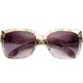 新款Chanel香奈兒太陽鏡女正品時尚優雅華麗復古粹花方框墨鏡5220 C1313 3P