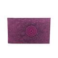 宅包包。kipling半透明PVC收納尼龍票卡夾證件夾葡萄紫-免運
