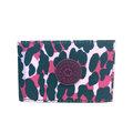 宅包包。kipling半透明PVC收納尼龍票卡夾證件夾紫豹紋-免運