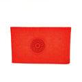 宅包包。kipling半透明PVC收納尼龍票卡夾證件夾橘紅-免運