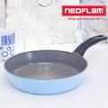 【韓國NEOFLAM】Reverse彩色手作岩礦不沾鍋系列 頂級陶瓷不沾平底鍋-海洋藍24cm
