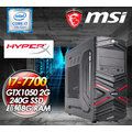 微星B250M 星際遨遊者(I7 7700/GTX 1050 2G/240G SSD/超頻8G D4/650W)霸氣上架