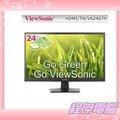 『程傑電腦』ViewSonic 優派 VA2407H 24型 24吋 HDMI輸出 液晶螢幕 FULL HD