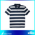【NAUTICA】CLASSIC FIT STRIPED POLO SHIRT 藍色條紋 POLO衫