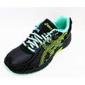 ASICS 亞瑟士 童鞋 慢跑 越野 輕量 GEL-VENTURE 6 GS C744N-9097 (黑x綠) [陽光樂活]
