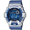 G-SHOCK CASIO 卡西歐超人氣大錶徑金屬銀藍色電子腕錶 型號:G-8900CS-8【神梭鐘錶】