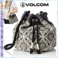 ☆POLLY媽☆VOLCOM Cant Be Tamed Bucket Bag民族風圖騰帆布粗棉繩束口背帶水桶包