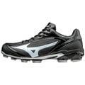 「野球魂」--「MIZUNO」【SELECT 9】系列低統樹脂底膠釘鞋(11GP172010,黑×白色)