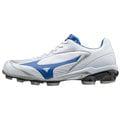 「野球魂」--「MIZUNO」【SELECT 9】系列低統樹脂底膠釘鞋(11GP172028,白×寶藍色)