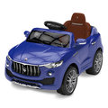 寶貝樂精選 瑪莎拉蒂電動車可遙控LED車頭燈酷炫兒童車(授權款)藍色(BTRT7993B)